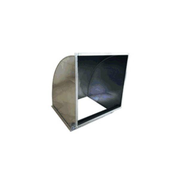Вентиляционный угловой короб MASTER 90°, 650x650, R150